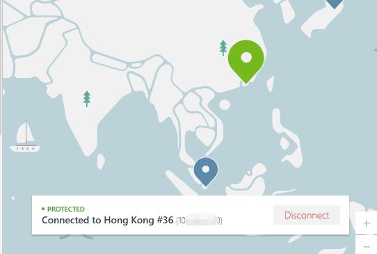 连接了香港节点