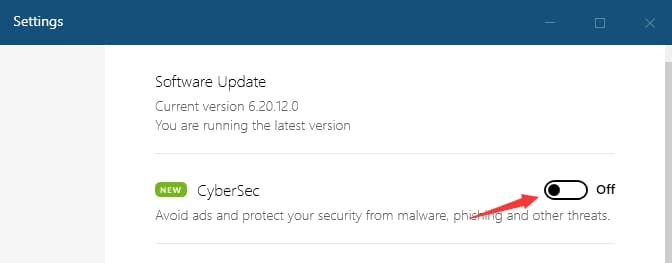 nordvpn开启CyberSec功能