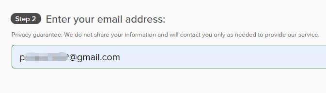 输入邮箱账号